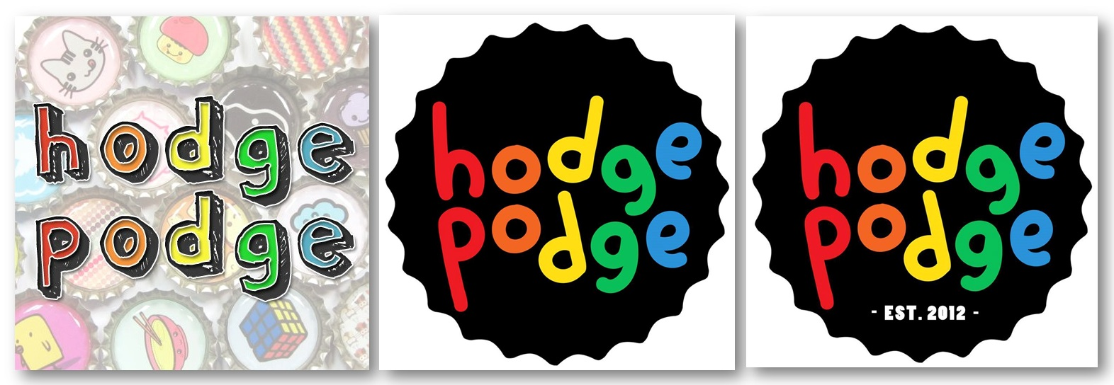 Combined Hodge Podge Facebook profile pictures since 2012. (c) Hodge Podge Facebook Page